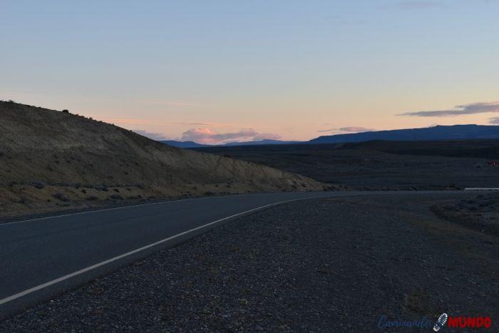 Amanecer en la ruta 40 camino a El Chaltén
