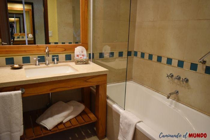 Baño del Hotel Mirador del Lago