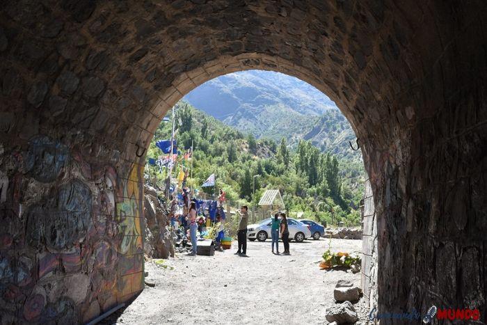 Tunel Tinoco en nuestra visita al cajón del Maipo
