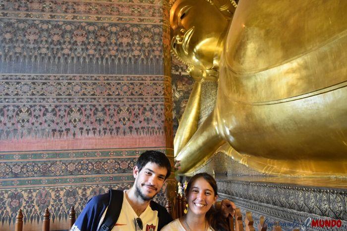 Conociendo al Buda reclinado más grande de Bangkok
