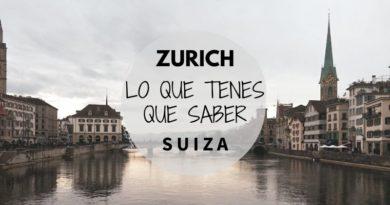 Viajar a Zurich lo que tenes que saber