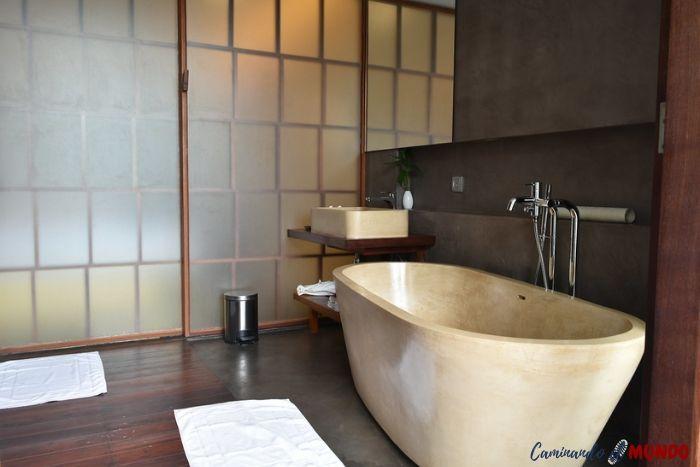 Baño del hotel Sakmut dormir en Siem Reap
