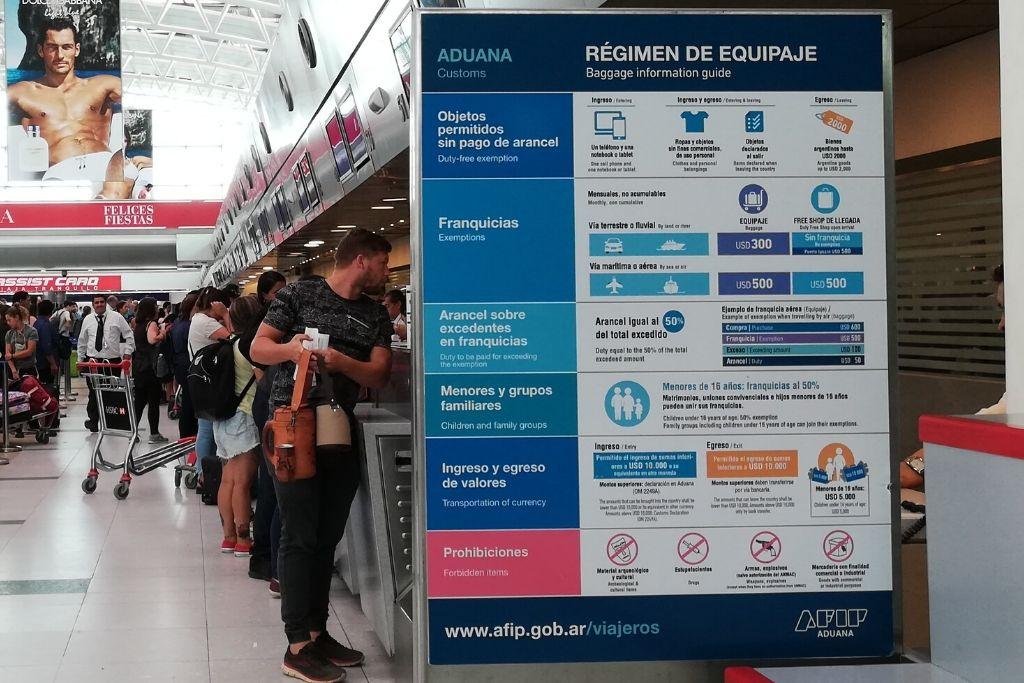 Cartel franquicias aduana AFIP