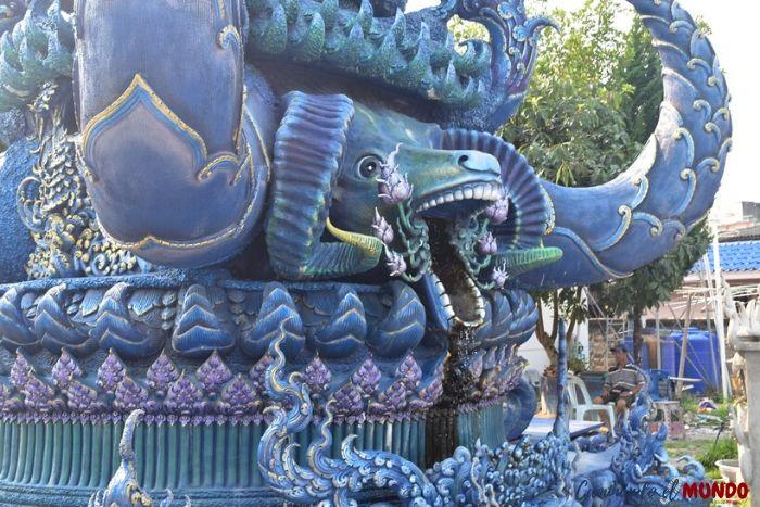 Dragones cuidando el templo