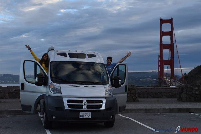 Viajando en motorhome en San Francisco y el Golden Gate