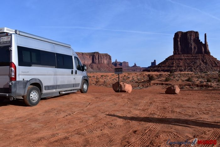 Motorhome en Monument Valley