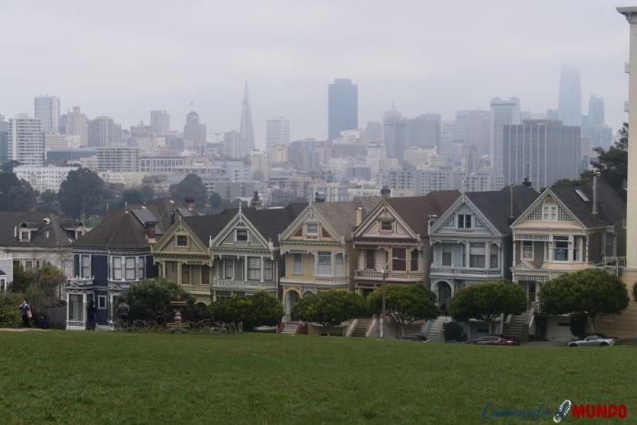 Painted Ladies en San Francisco en nuestra ruta por la Costa Oeste