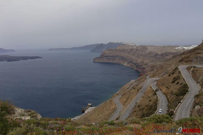 Llegada a Santorini