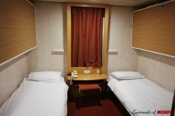 Interior del Camarote de Blue Star Ferries