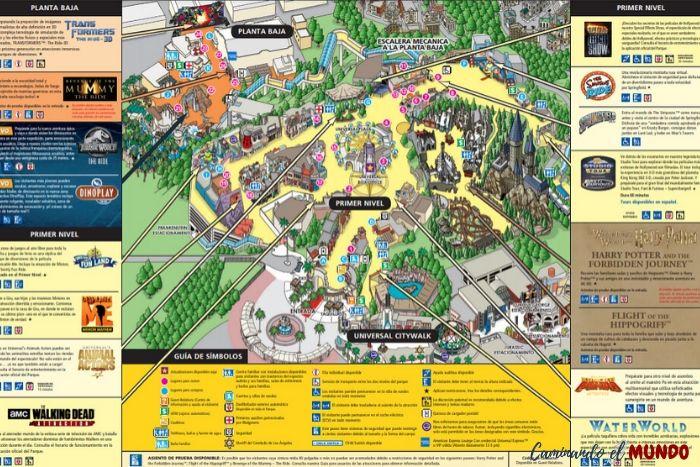 Mapa de Universal Studios