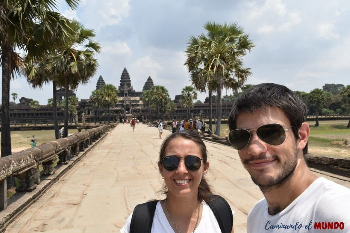 Recorriendo el templo Angkor Wat