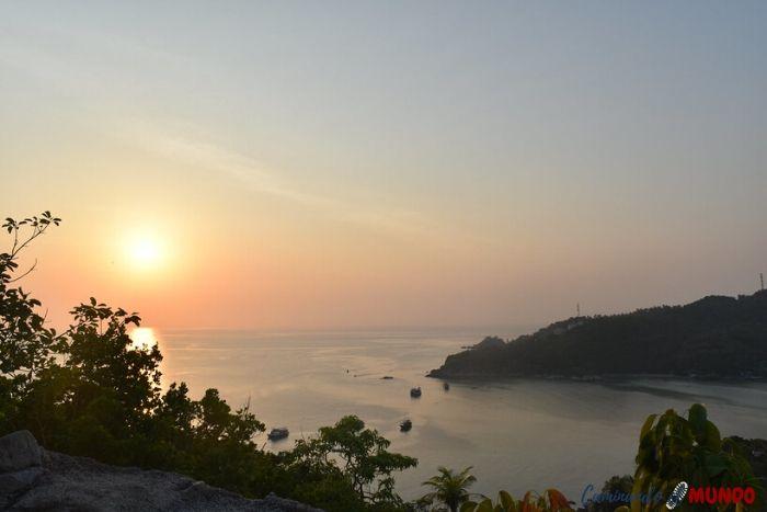 Atardecer en Koh Tao en el sur de Tailandia