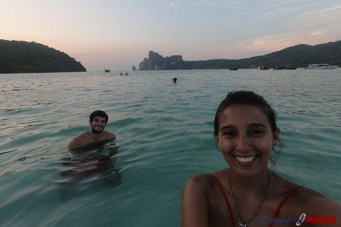 El Mar paradisíaco en Phi Phi