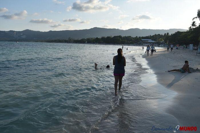 Playa de Koh Samui en Tailandia