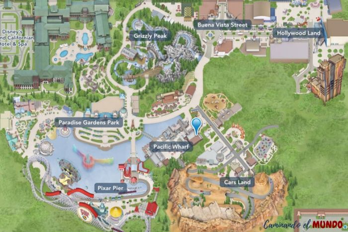 Mapa de Disney California