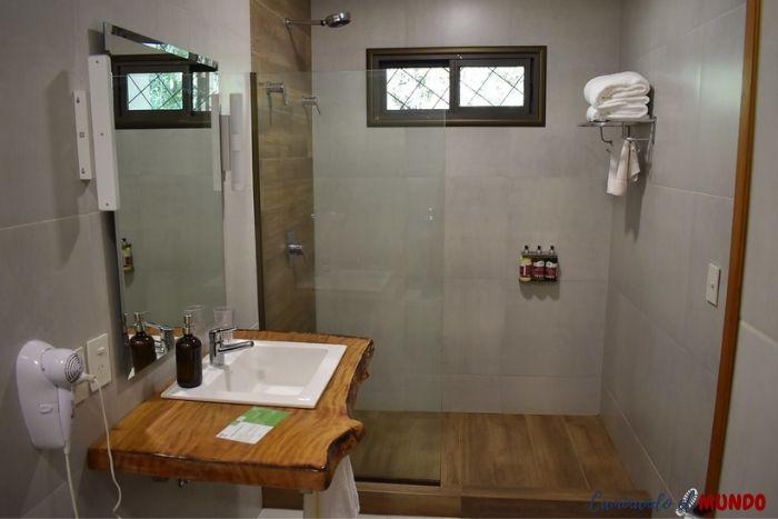 Baño de la habitación del hotel Yvy