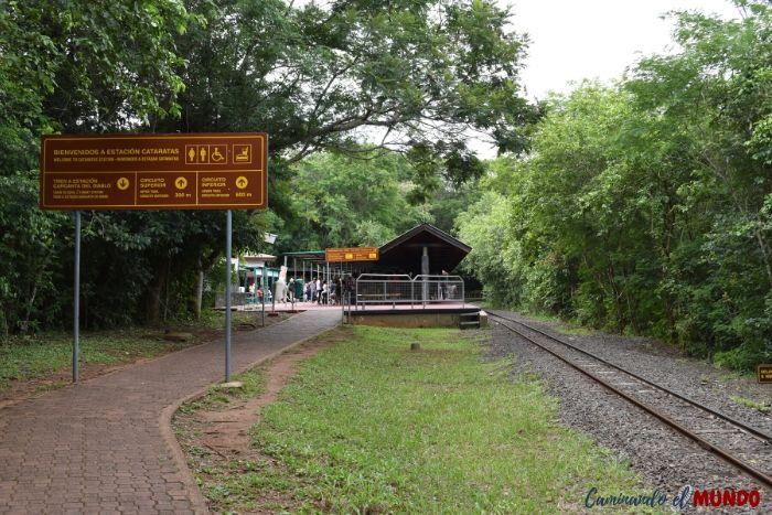 Estación cataratas al finalizar el sendero verde