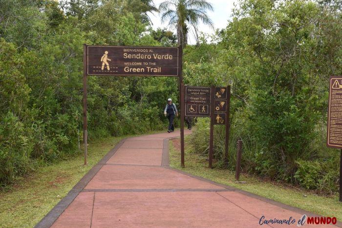 Sendero verde del Parque Iguazú