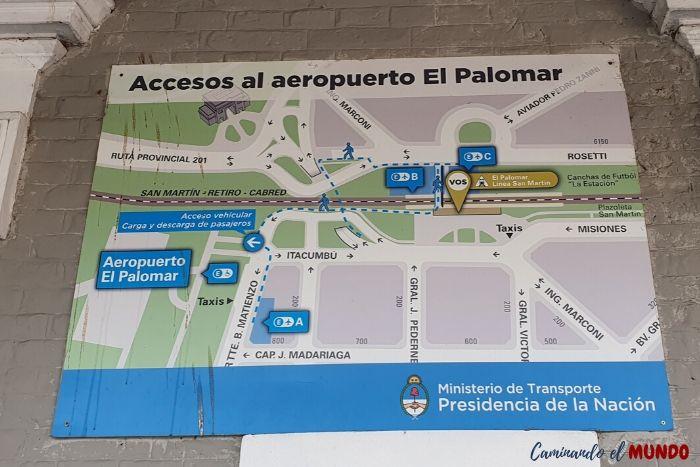Acceso al aeropuerto El Palomar