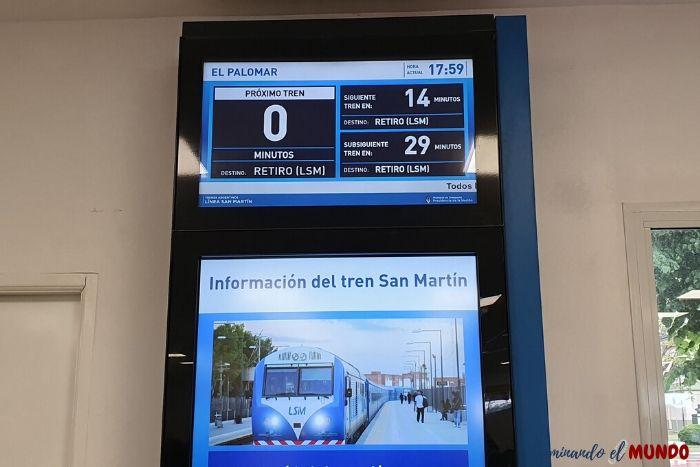 Información del tren dentro del aeropuerto
