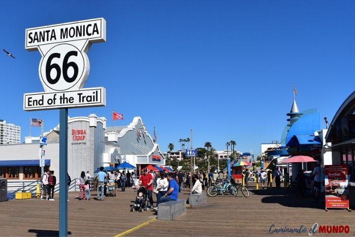 Ruta 66 en Santa Monica