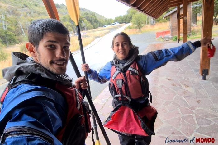 Trajes para hacer kayak en el Lago Argentino