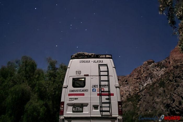 Noche estrellada en el cañón del atuel